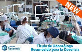 A partir de ahora, Odontología es reconocido para la docencia