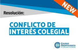 Resolución para conflicto de interés colegial