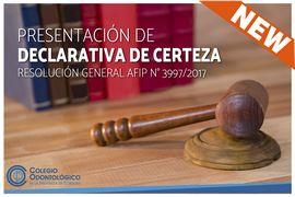 Presentación de Declarativa de Certeza