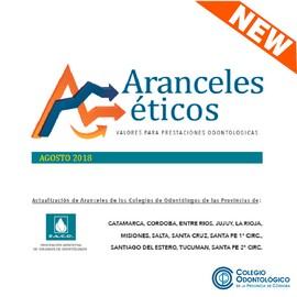 Nuevos Aranceles Éticos - Agosto 2018
