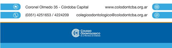 Colegio Odontológico de la Provincia de Córdoba - Información de Contacto